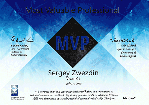 Microsoft Most Valuable Professional, Visual C#, 2010