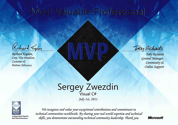 Microsoft Most Valuable Professional, Visual C#, 2011
