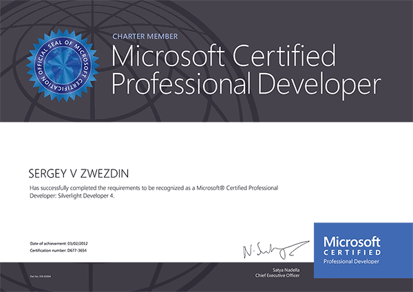 Microsoft Certified Professional Developer: Silverlight Developer 4