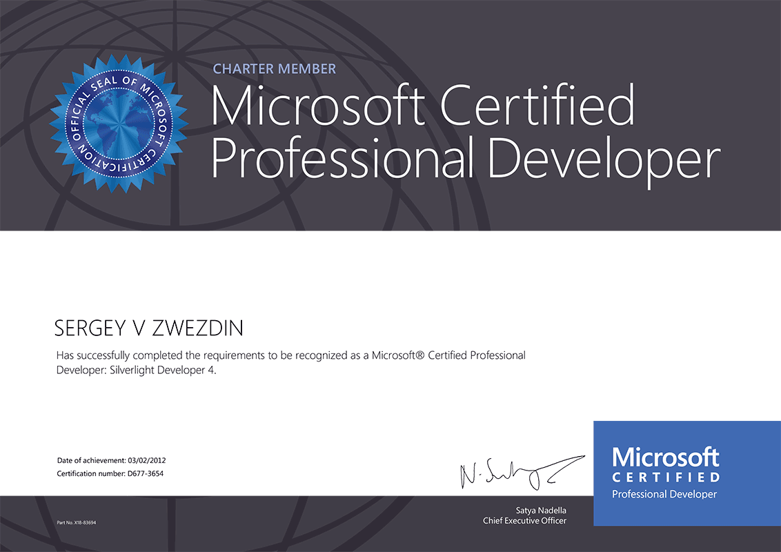 Sergey Zwezdin Net Software Developer Microsoft Mvp