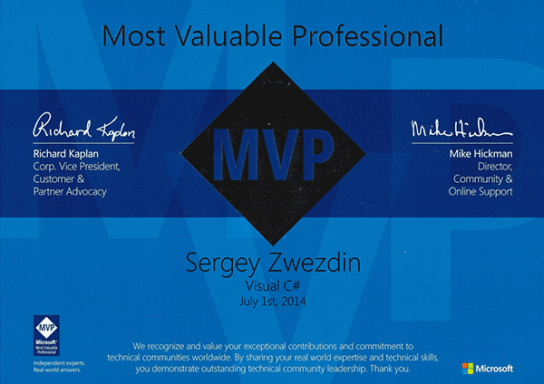 Microsoft Most Valuable Professional, Visual C#, 2014